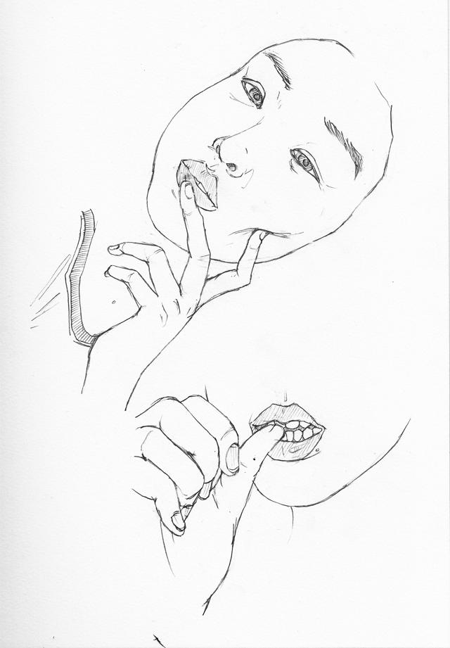 640x921 Doodles Finger And Lip Study, Pt. 2 Melodie Miu