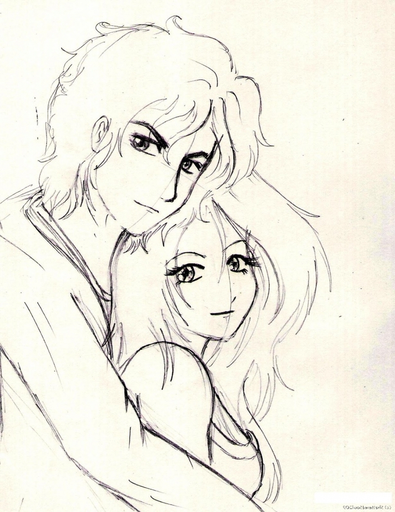 789x1024 simple pencil sketches of couples in love cute couple simple