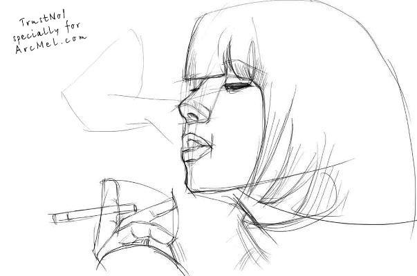 603x400 How To Draw Smoke Step By Step