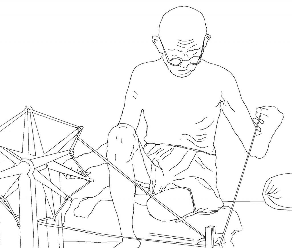1024x871 Gandhi Drawing Sketch Mahatma Gandhi Pencil Sketch Drawing