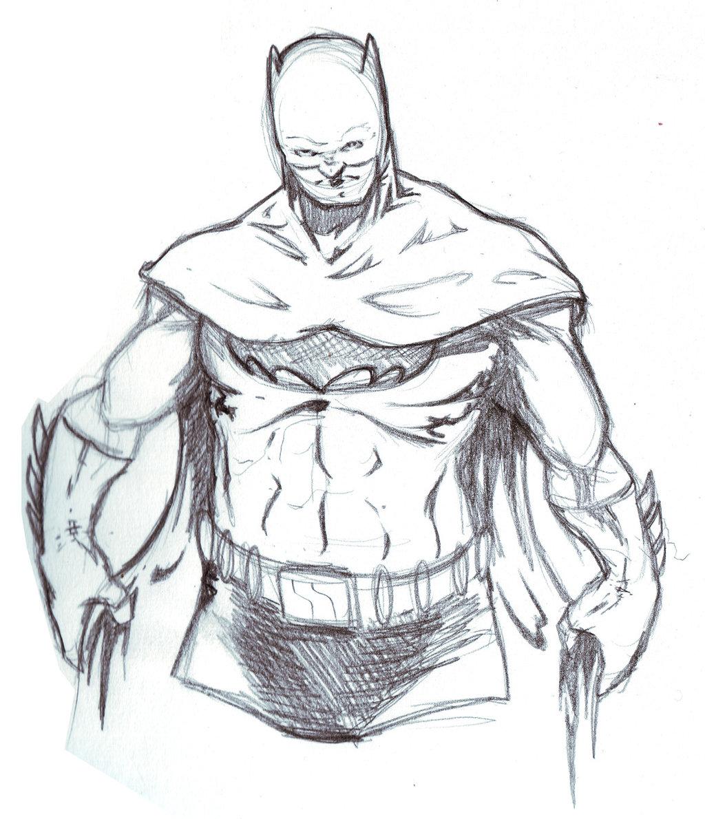 1024x1190 Batman Pencil Sketch 15 Min By Mdmackay