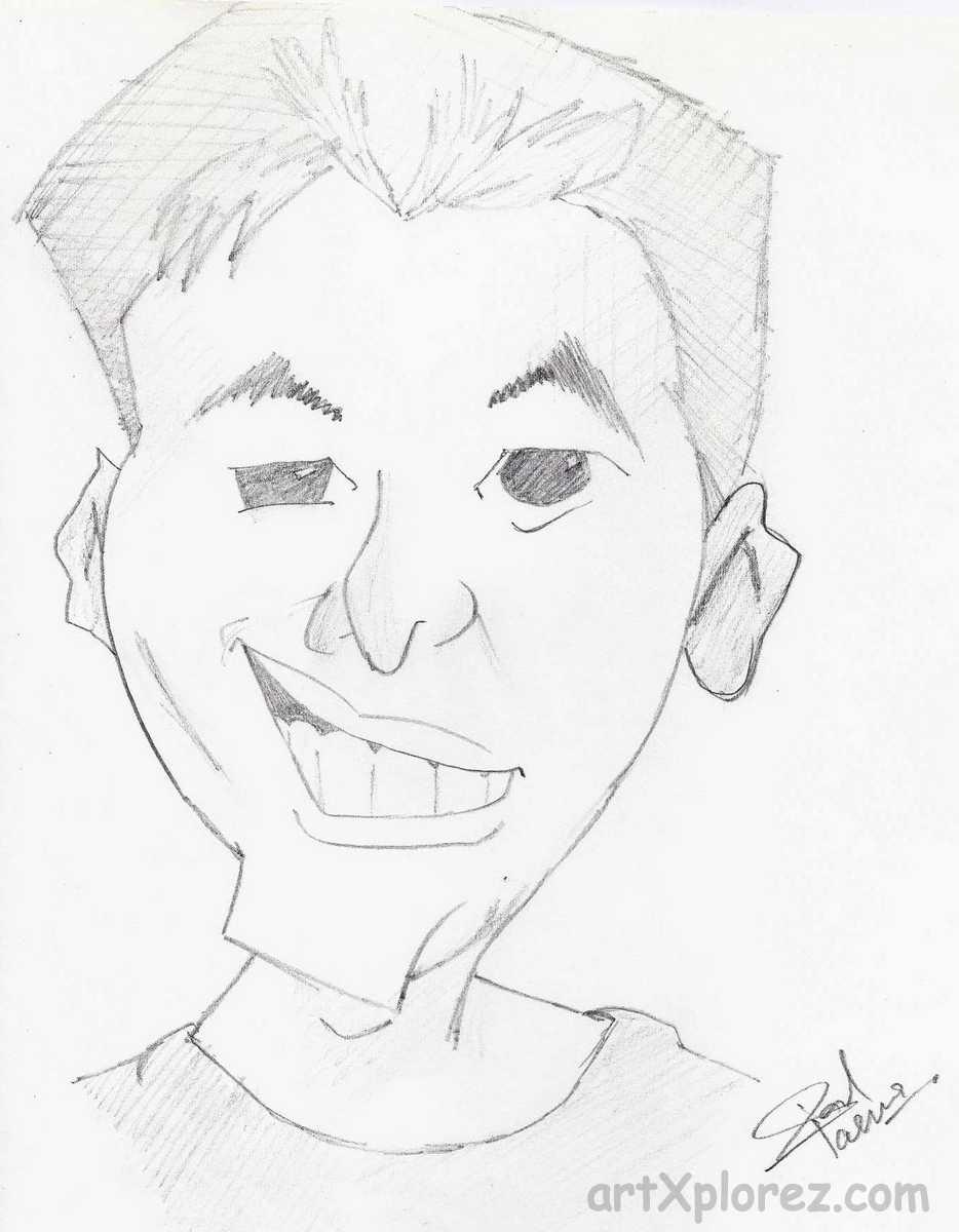 934x1200 Gallery Cartoons Faces Pencil Sketch,