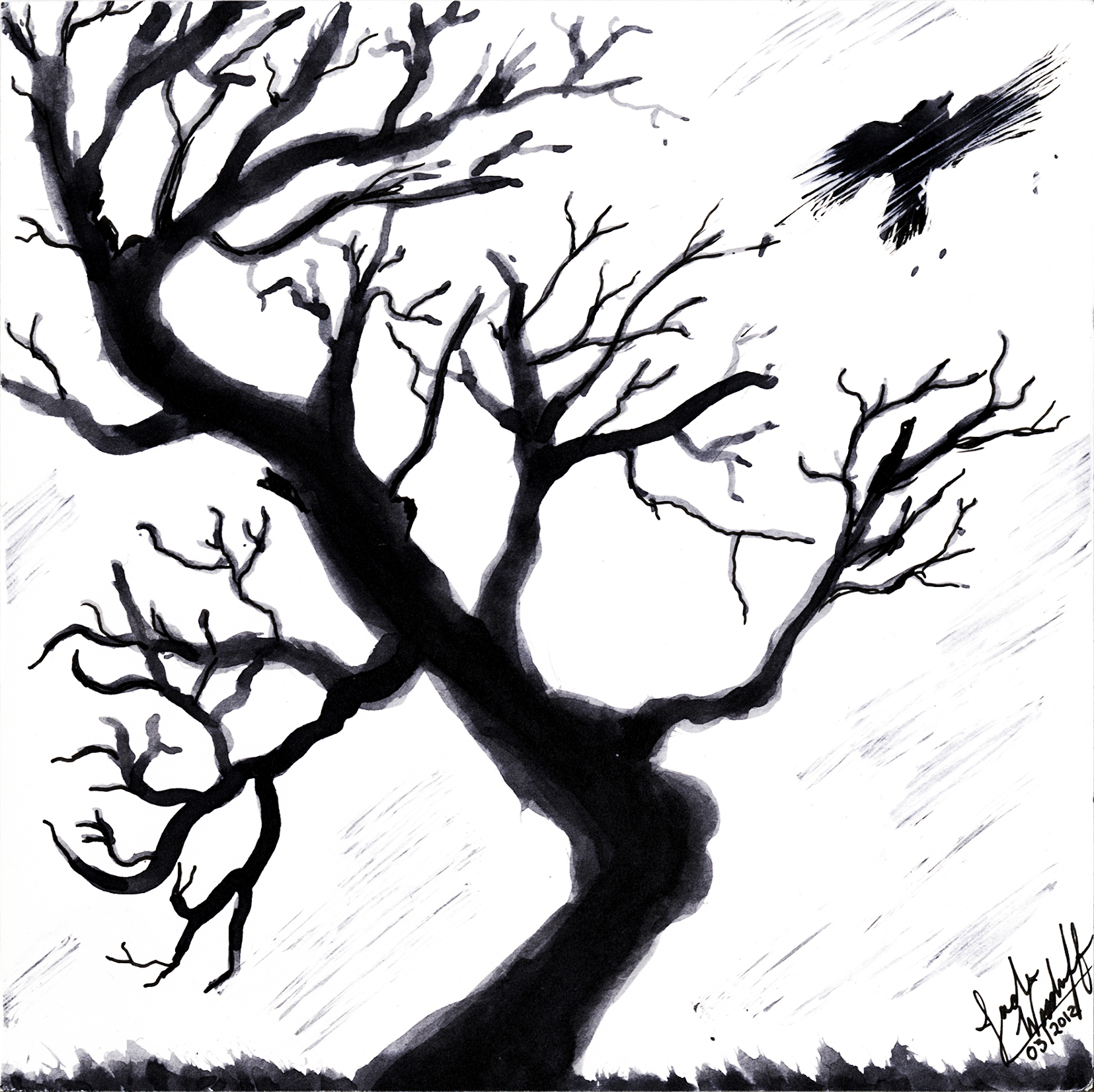 1655x1652 Drawn Dead Tree Amazing Tree