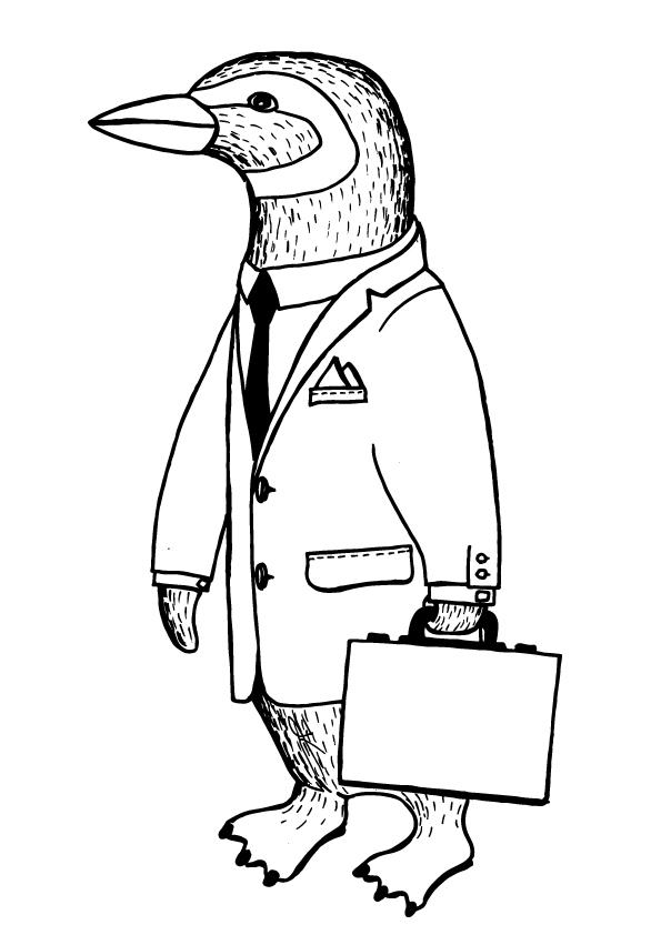 595x842 Penguin Drawing Jonas Claesson