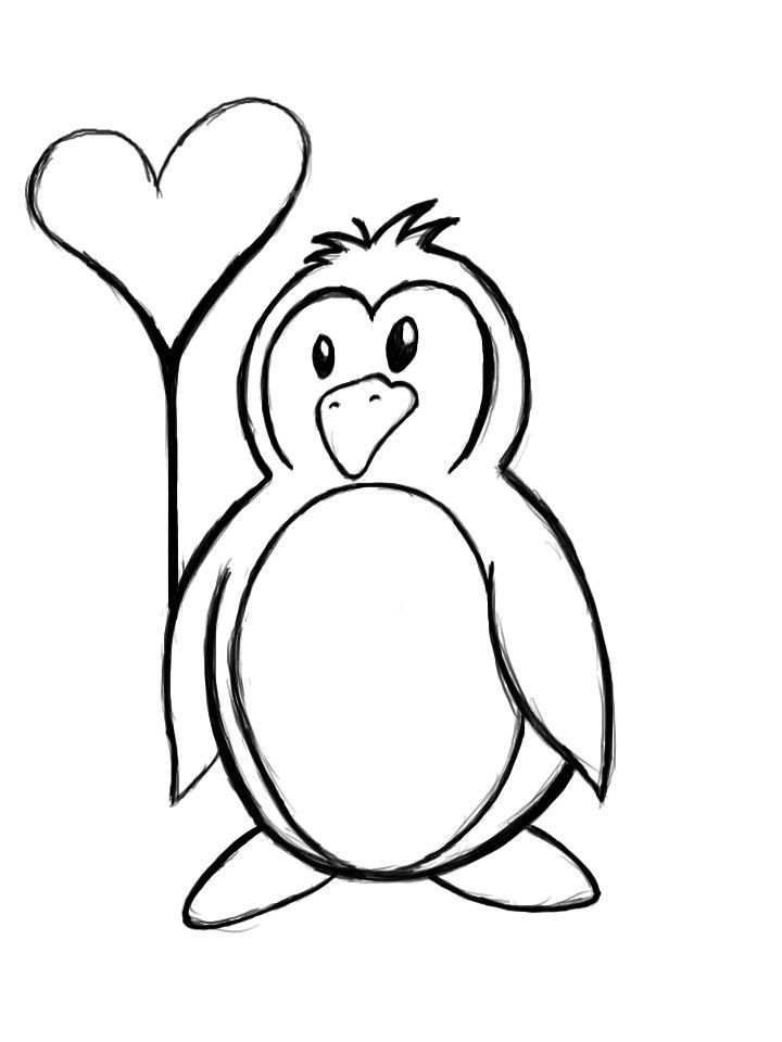 Penguin Drawing Cartoon at GetDrawings | Free download