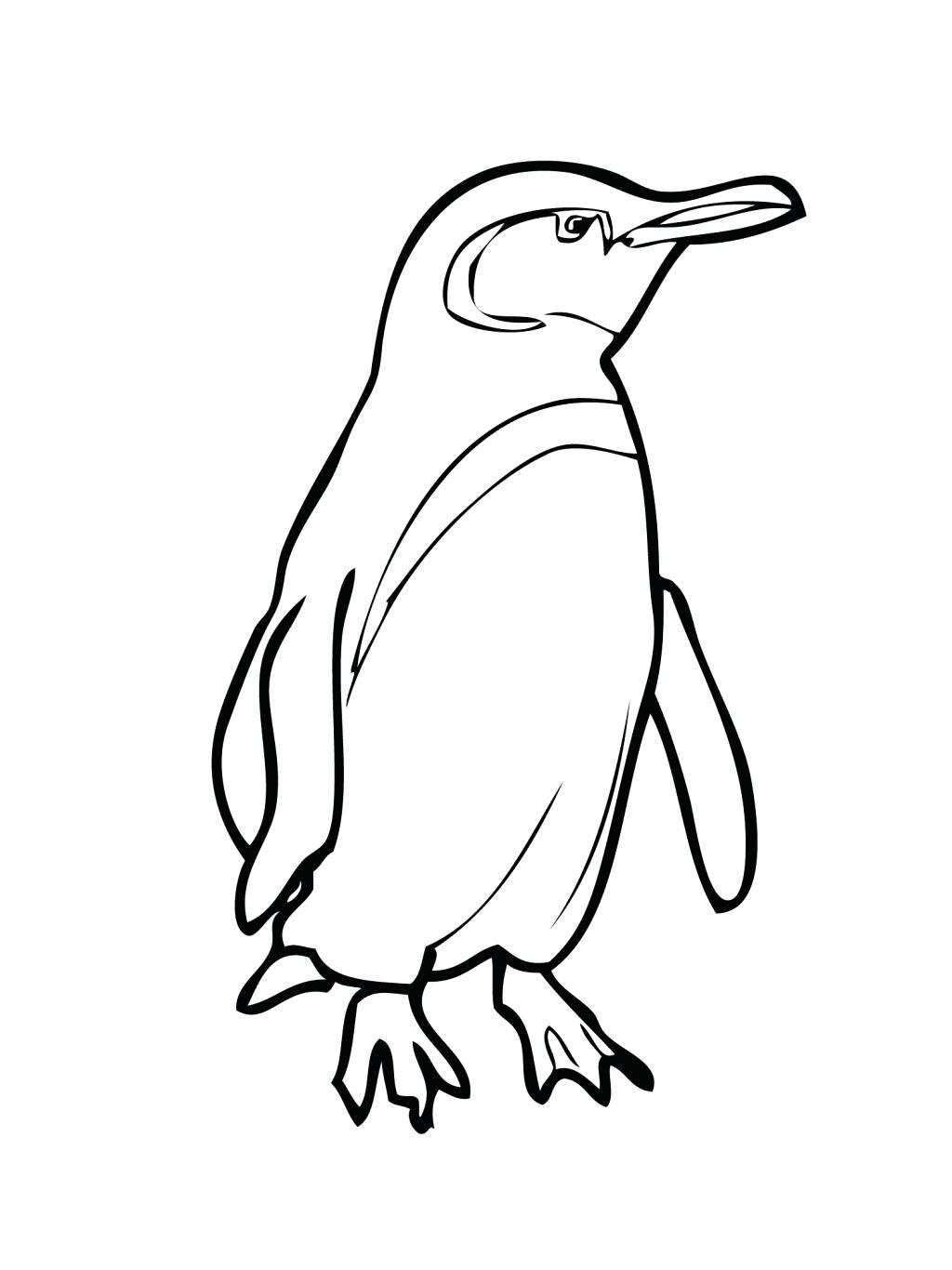 1024x1366 Coloring Emperor Penguin Coloring Page