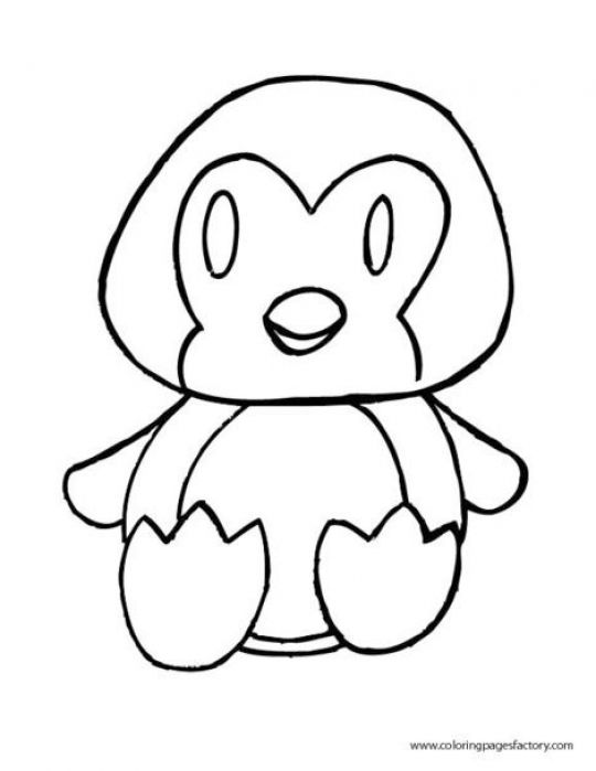 cute penguin coloring pages - photo#22