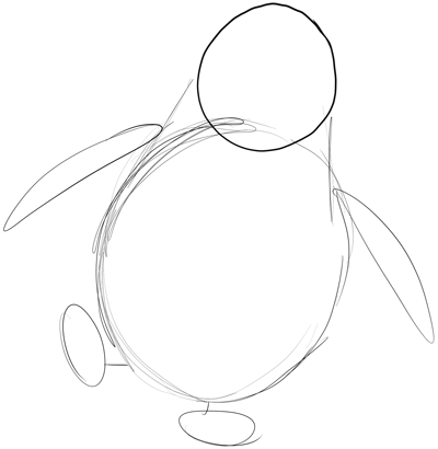 400x410 How To Draw Private From Penguins Of Madagascar In Easy Steps