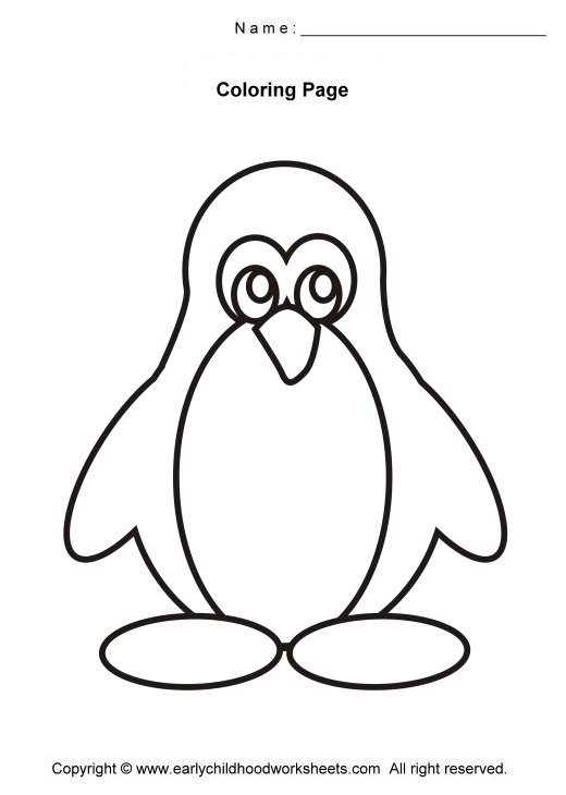 520x730 Penguin Coloring Pages Easy And Simple Coloring Pages For Early