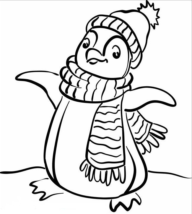 650x724 Penguin Cute Penguin On Christmas, Penguin.