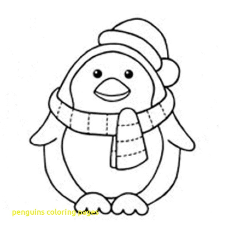 768x768 Penguins Coloring Pages With Penguin Coloring Pages Free Printable