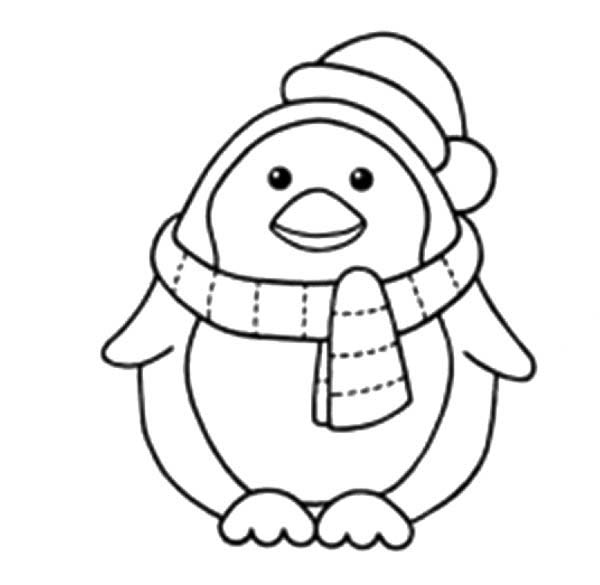 600x585 Penguins To Color