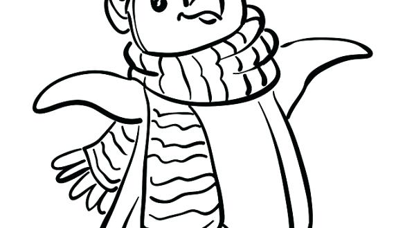 585x329 Picture Of Penguin To Color Download Penguin Coloring Pages