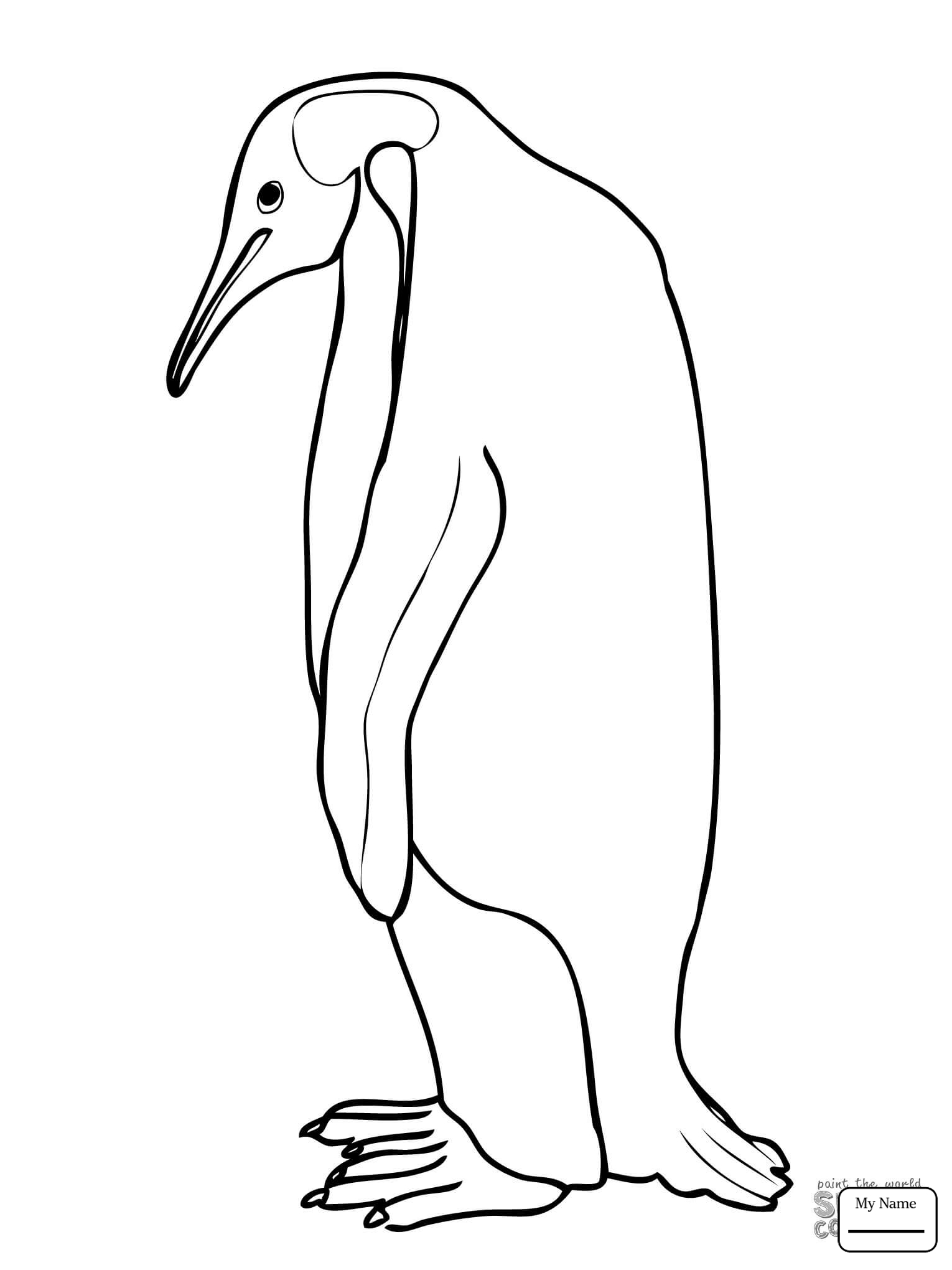 1530x2040 Coloring Pages For Kids Birds Penguins Emperor Penguin Family