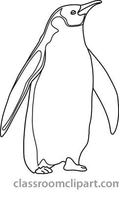 Penguin Drawing Outline