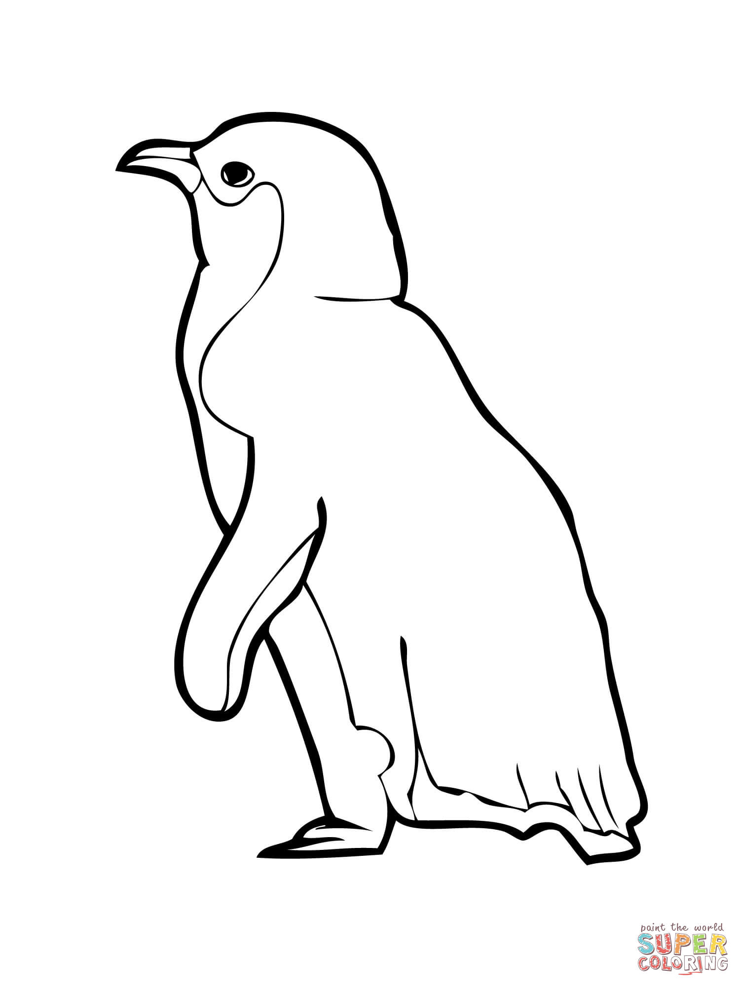 Penguin Outline Drawing at GetDrawings.com   Free for personal use ...