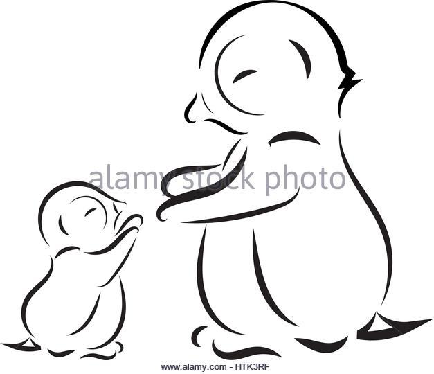 627x540 Emperor Penguin Chick Antarctica Black And White Stock Photos