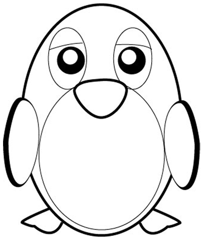 400x473 Nice Pictures Of Penguins To Draw How To Draw Cartoon Penguins
