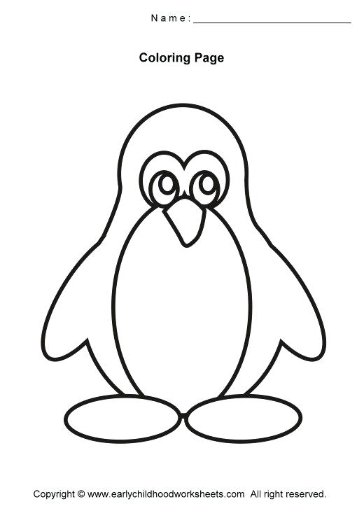 520x730 Picture Of Penguin To Color Penguin Coloring Pages Winter Penguin