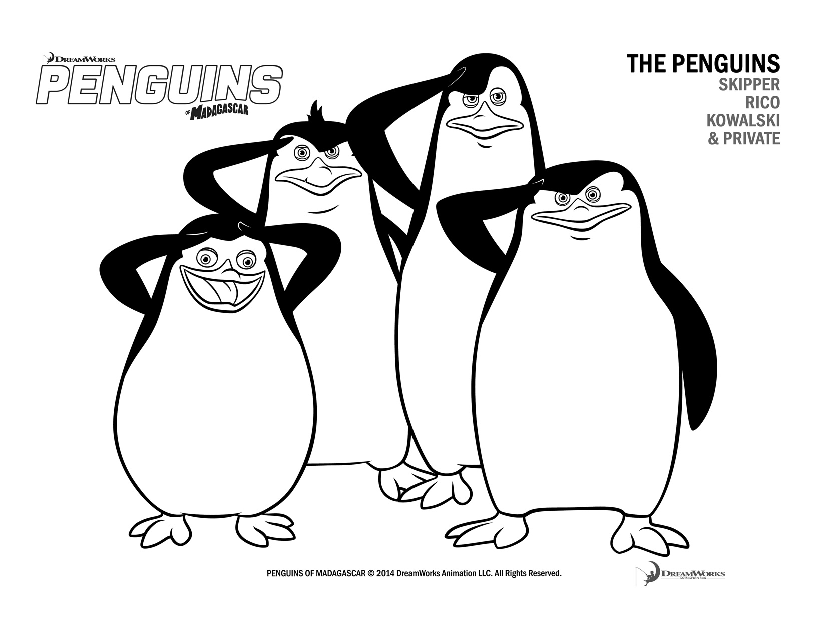 1650x1275 Penguin Coloring Pages Print Color Craft