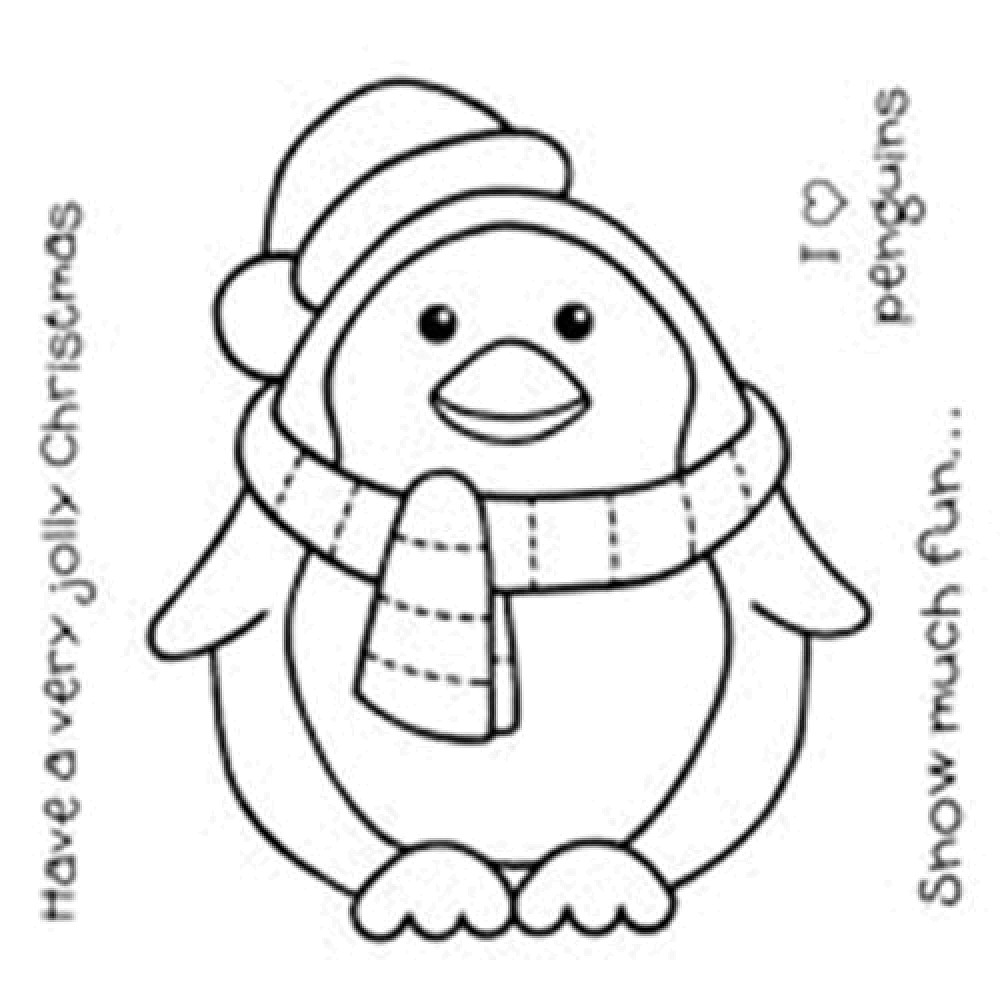 1000x1000 Ugly Christmas Sweater Coloring Sheet Cute Baby Penguin Pages Only