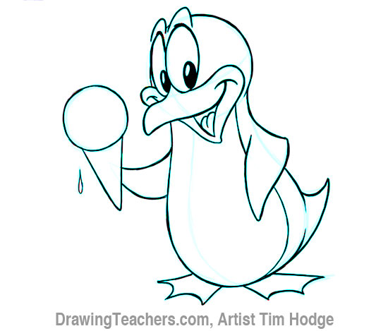 550x469 Drawn Cartoon Penguin