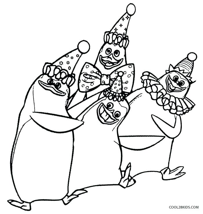 700x740 Madagascar Coloring Pages Penguins Of Coloring Pages Madagascar