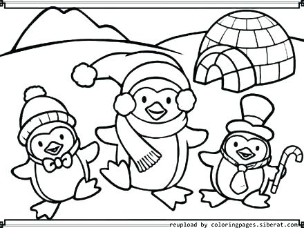 440x330 Coloring Page Penguin Club Penguin Coloring Pages To Print Cute