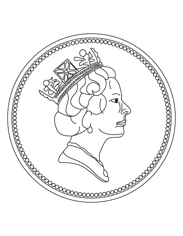 630x810 Coin Coloring Pages