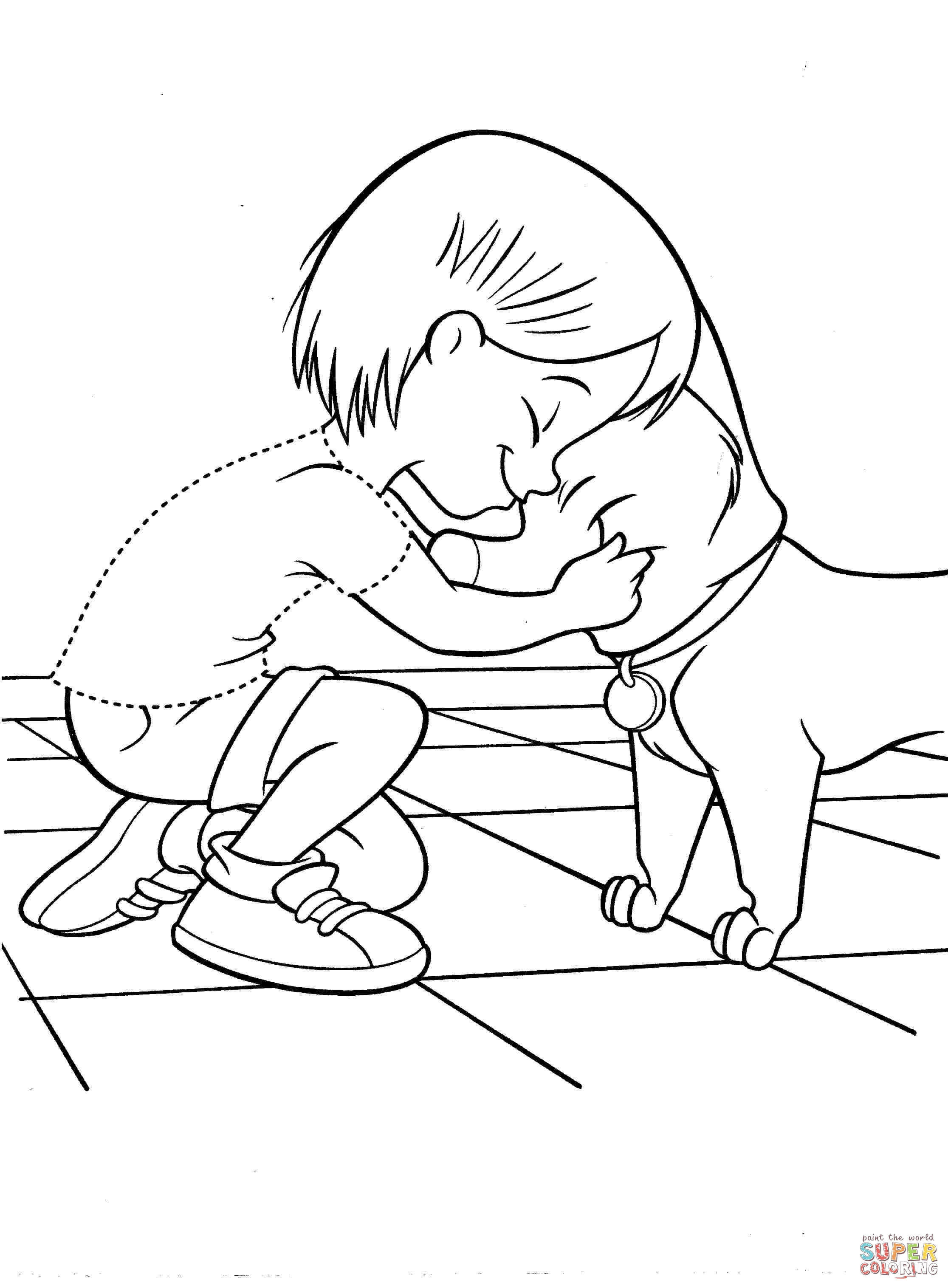 2232x3032 Penny With Dog Coloring Page Free Printable Coloring Pages