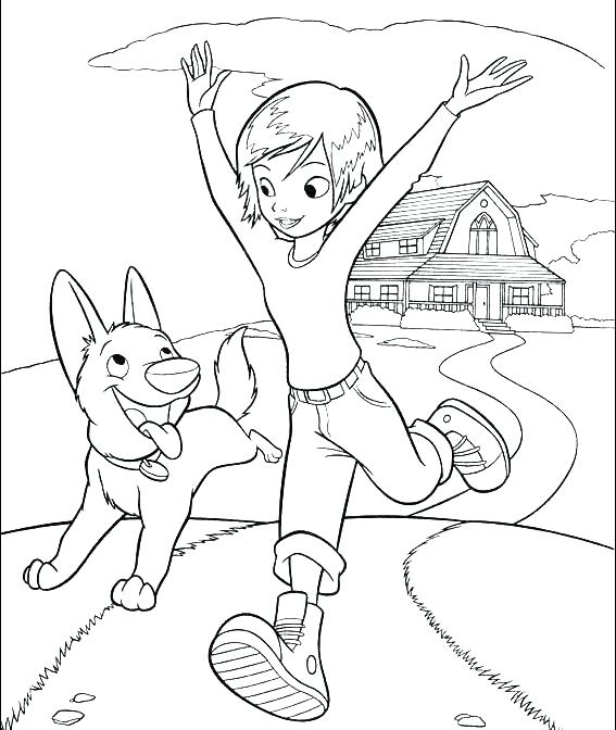 567x672 Running Coloring Pages Running Coloring Pages Bolt And Penny