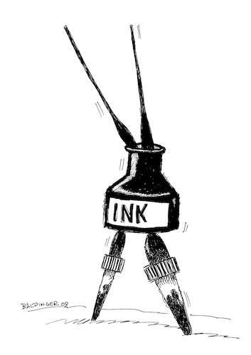 353x500 Ink Dancer By Dbaldinger Media Amp Culture Cartoon Toonpool