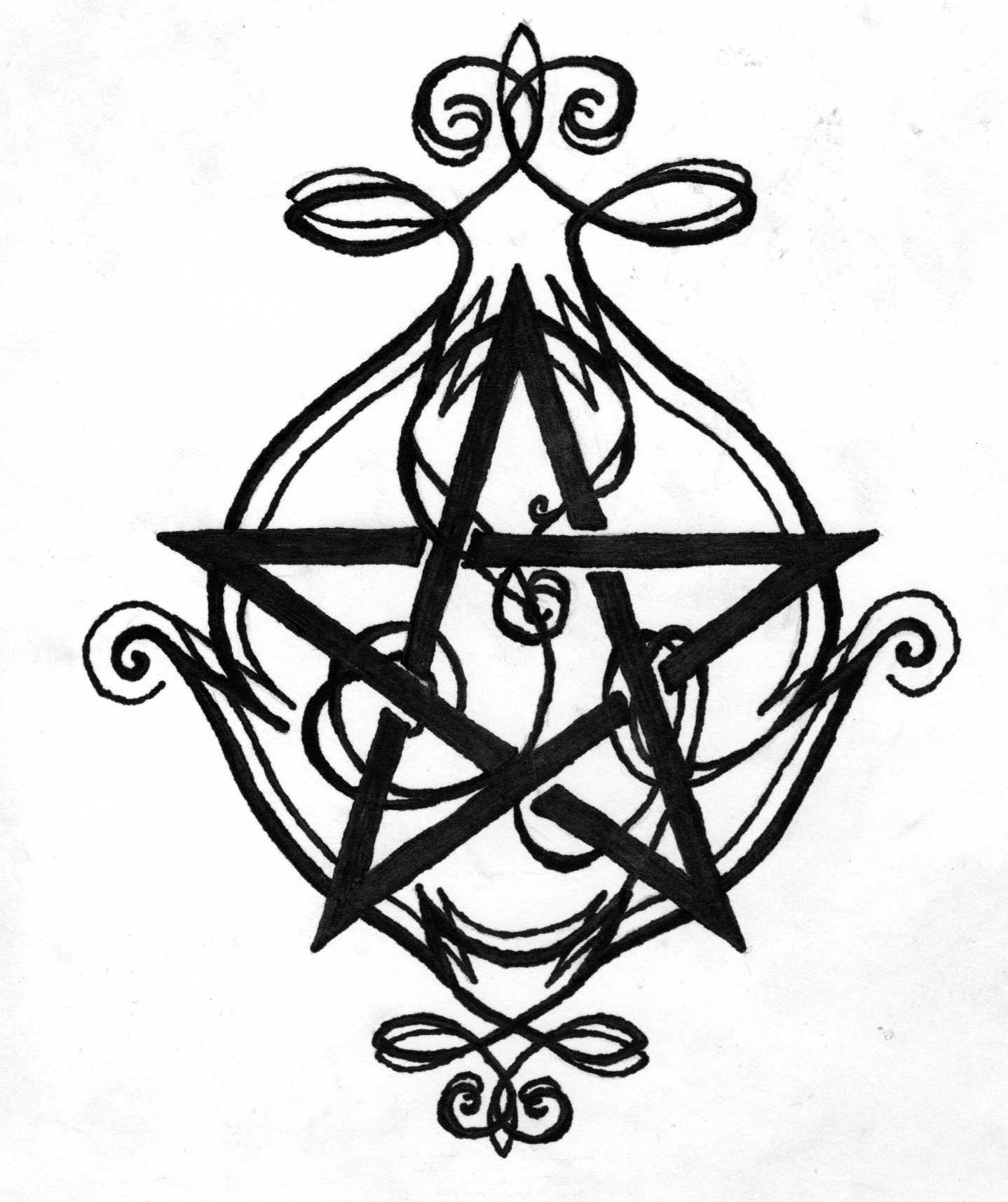 Wicca Tattoo Stencils Www Topsimages Com