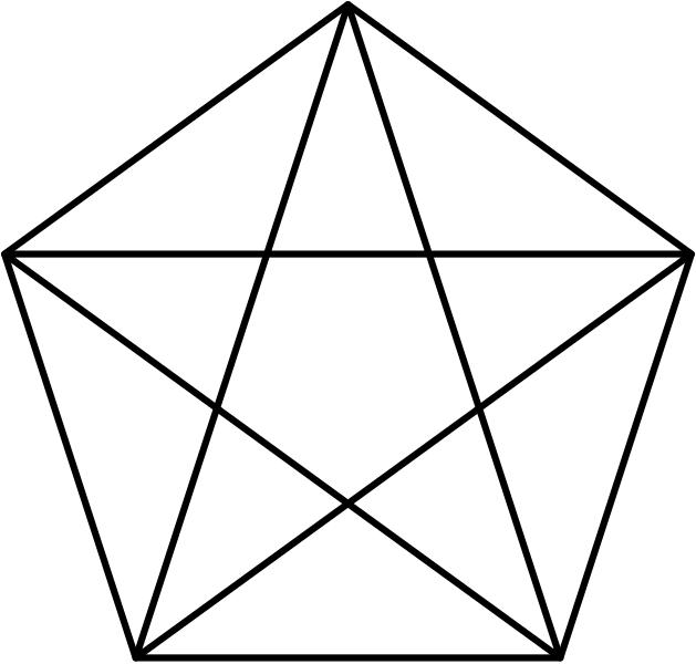 629x600 Filepentagram And Pentagon.svg
