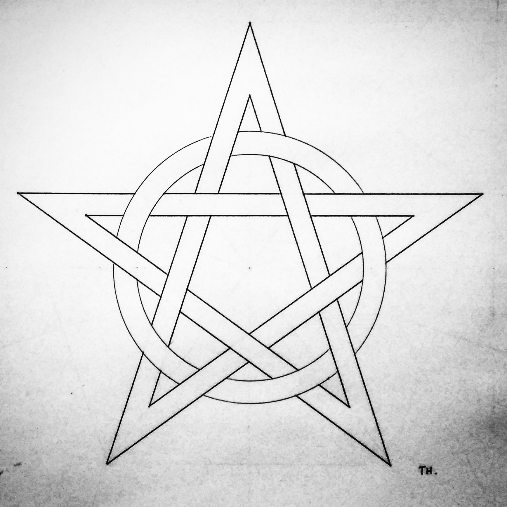 1736x1736 Woven Pentacle, By Tiago Hands.