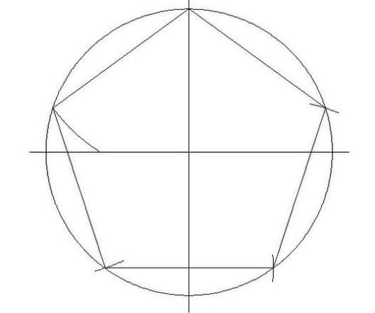 529x442 Draw A Regular Pentagon With A Compass And A Ruler Of 15cm Of Any