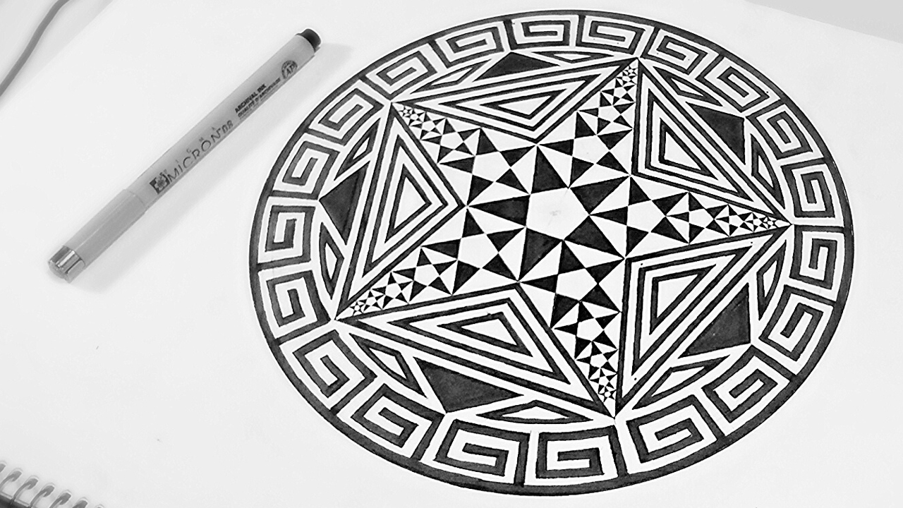 1280x720 How To Draw Fractal Art With Pentagrams