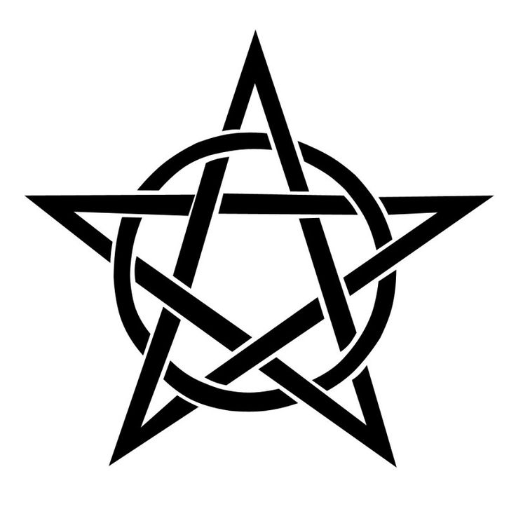 736x736 Circle And Pentagram Star Tattoo Design
