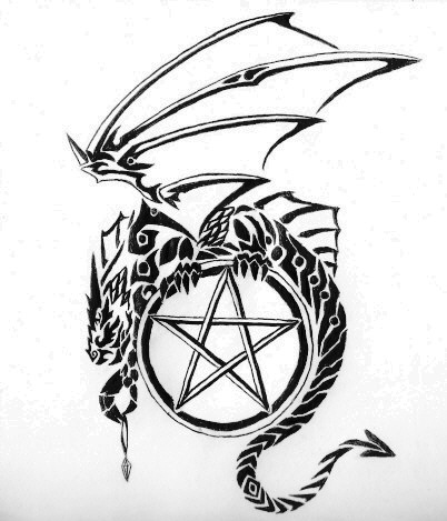 402x469 Dragon And Pentagram By Amberhallows