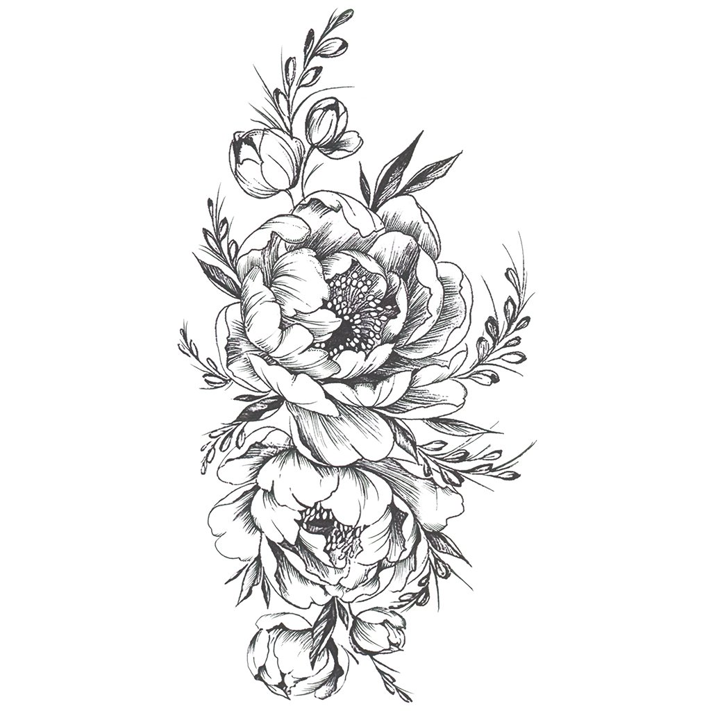 Peony Tattoo Drawing At Getdrawings Free For Personal Use