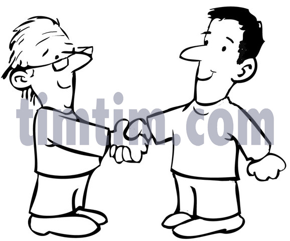 578x480 Free Drawing Of A Handshake Bw From The Category People