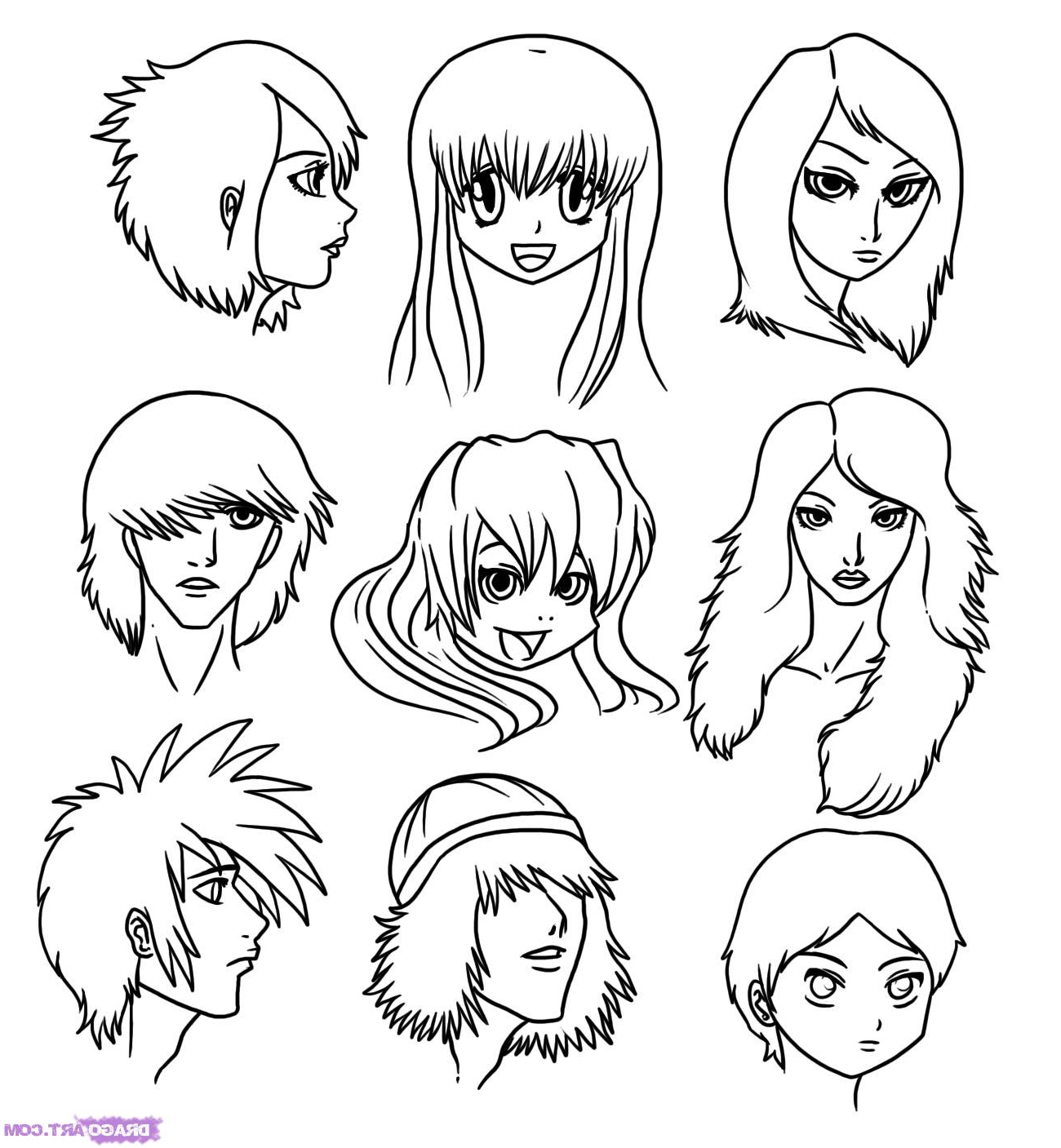 1300x1407 Cartoon Drawings Of People 6. How To Draw Cartoon Faces