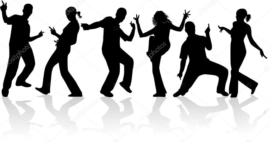 1023x541 Dancing People Stock Vector Pablonis