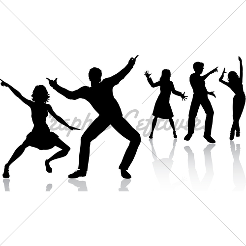 500x500 Party People Dancing Clipart Panda