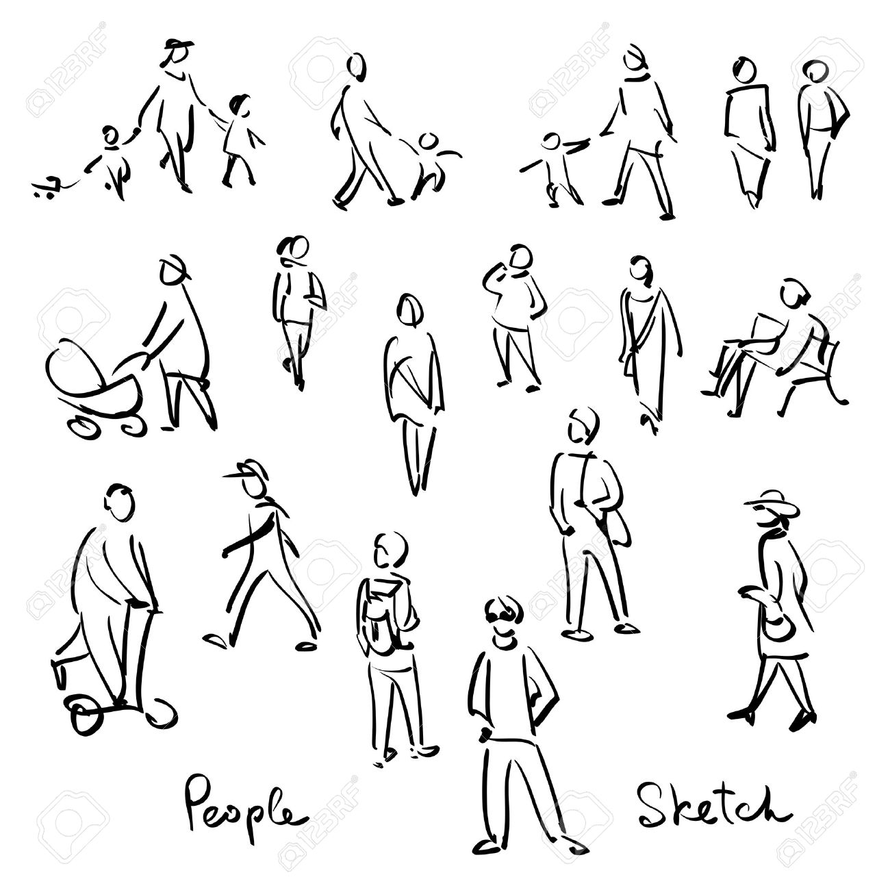 1300x1300 Gallery Outline Sketches Of People,