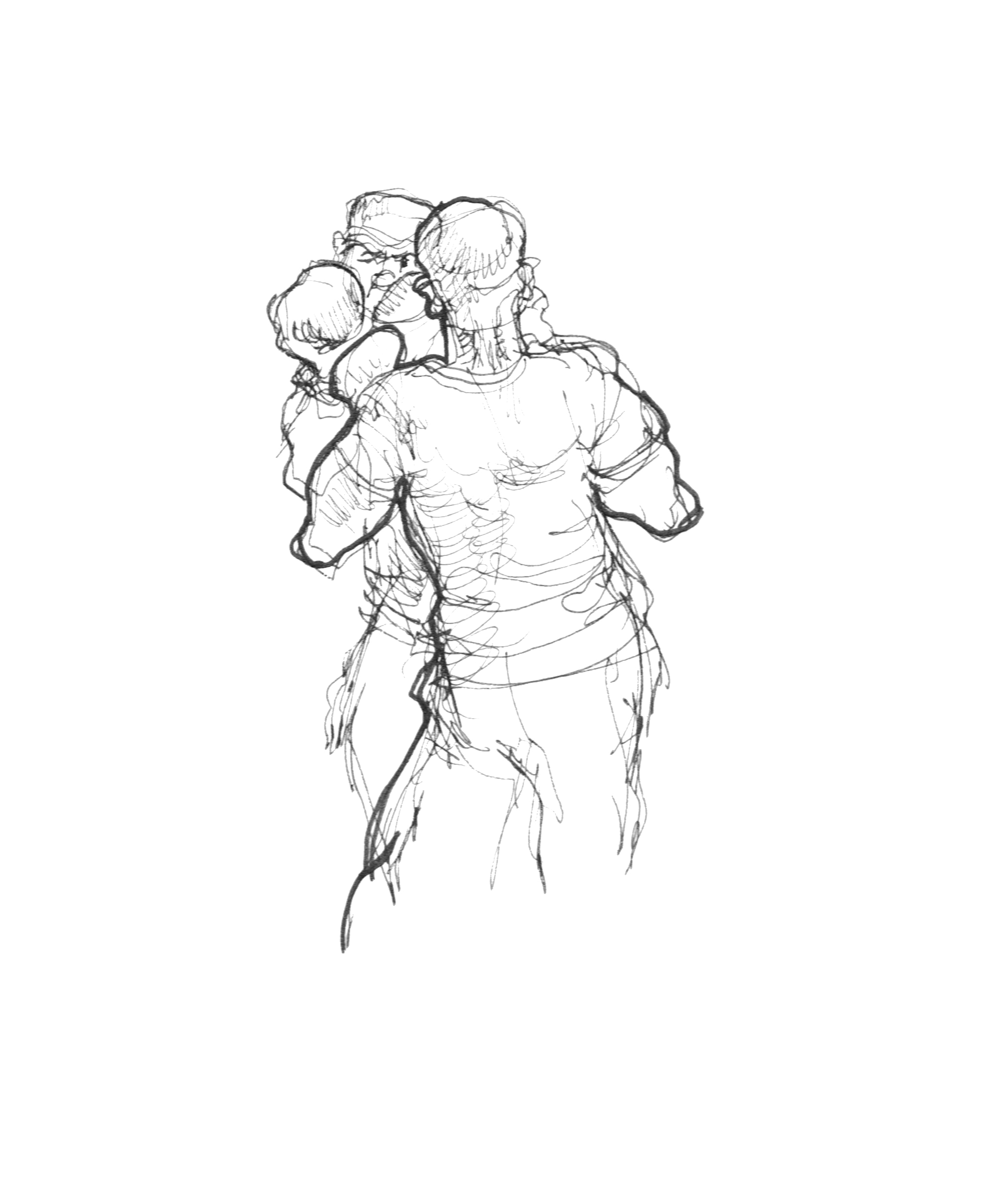 2040x2456 Dai's Reportage Drawing People In Action Boxing