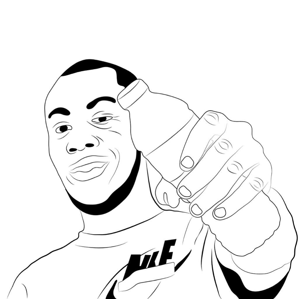 1024x1024 Stormzy Cartoon Drawing Michael Adedokun