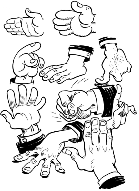 450x618 Drawing Hands How To Draw Comic Cartoon Hands With Easy Steps