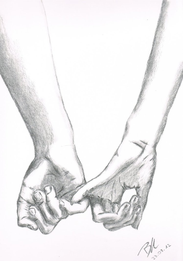 748x1067 Pencil Drawings Of People Holding Hands Holding Elderly Hand