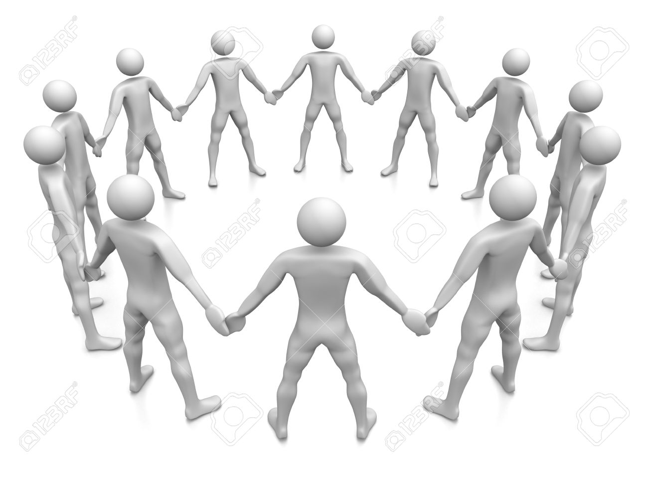 1300x975 Computer Rendered Graphic Of A Team Of People Holding Hands